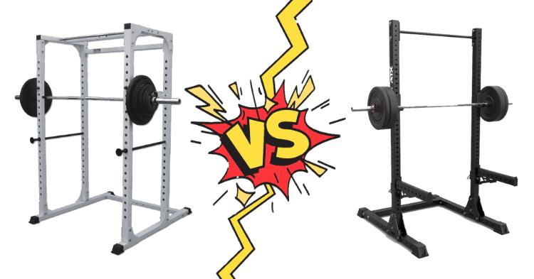power rack vs squat rack