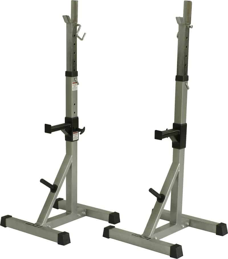 squat stands with safety bars