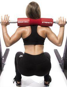 squat with squat pad