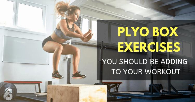 woman doing plyo box exercises