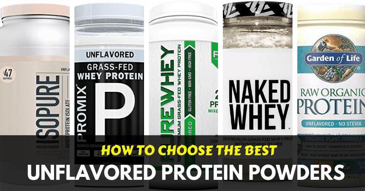 best unflavored protein powders