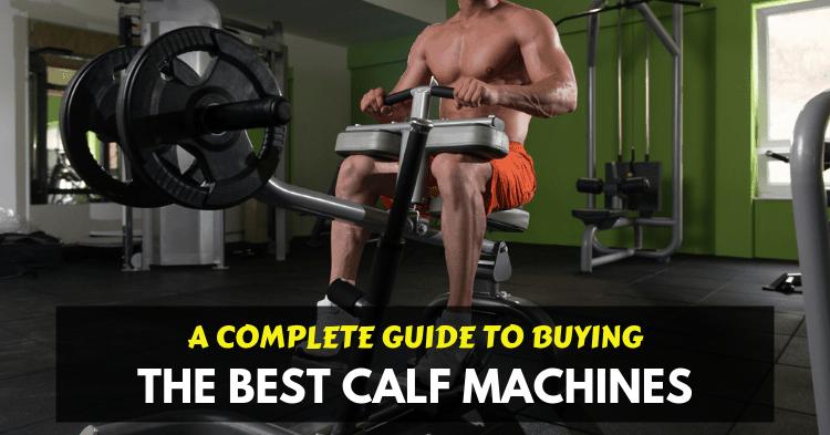 a man training on seated calf raise machine at home