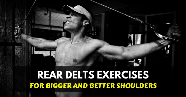 man doing rear delts cable exercises