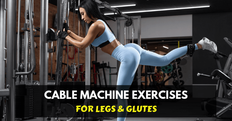 fitness woman doing exercise glutes cable kickbacks