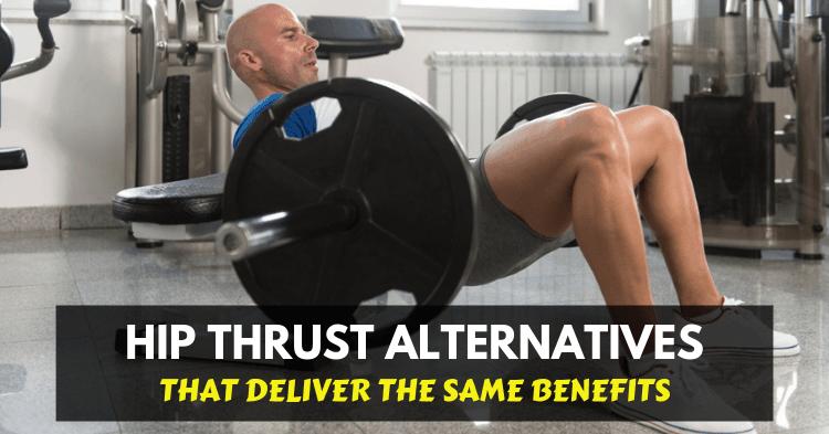 a man doing hip thrust exercise