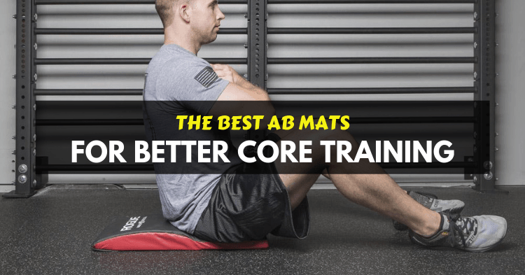 a man doing exercise with ab mat for crossfit