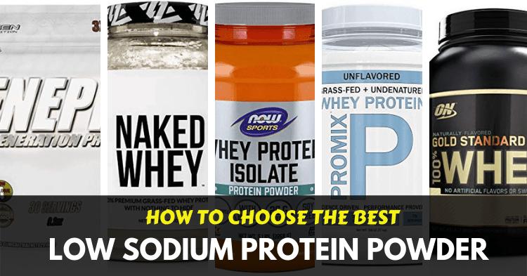 best low sodium protein powders