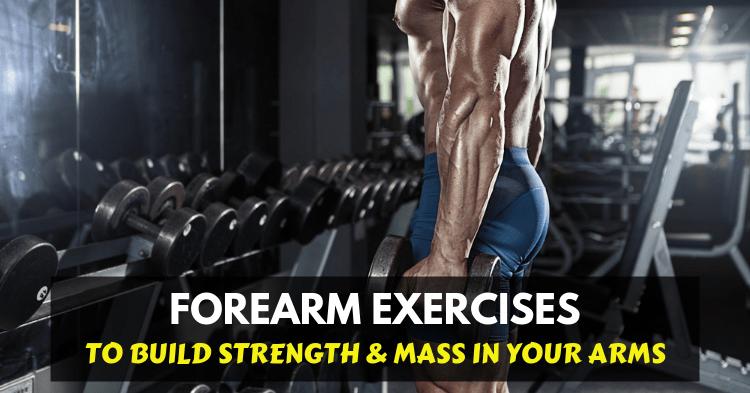 a man doing forearm exercises