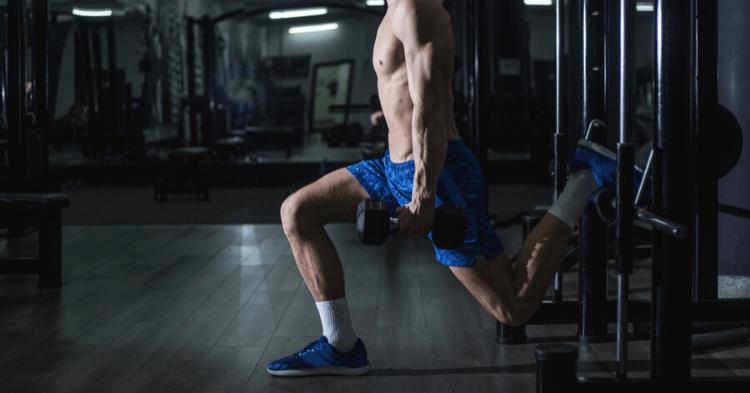 a man doing bulgarian split squat exercise
