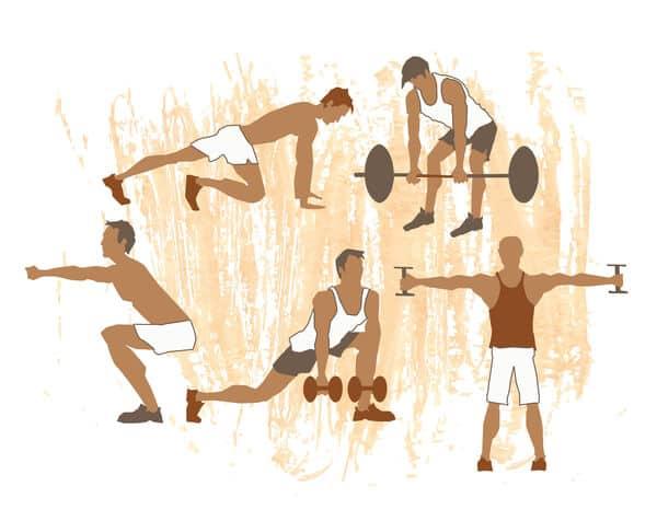 various exercises