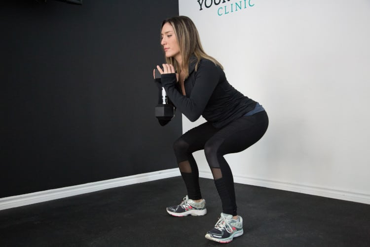 goblet squats for front squat progression