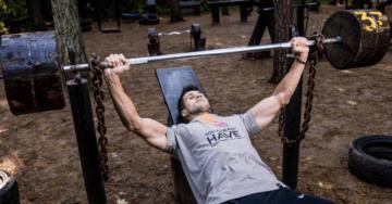 a man doing upper chest exercises