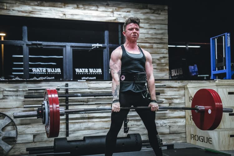 deadlifts on back day